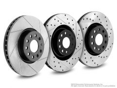 Neuspeed Rear Brake Rotor for Audi S3 / MK7 Golf R, Slotted/Drilled, 127.33113LR