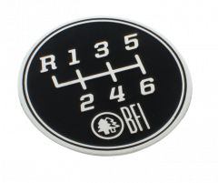 Black Forest Industries 6-Speed Gate Pattern Coin for Heavy Weight Shift Knobs, IBFI1006
