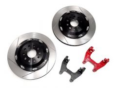 NEUSPEED 350mm Floating Rear Rotor Kit, MQB Electronic Parking Brake, Red, 99.10.49R