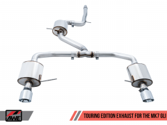 AWE Touring Edition Exhaust for MK7 Jetta GLI - Chrome Silver Tips, 3015-22070