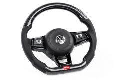 APR STEERING WHEEL - CARBON FIBER & PERFORATED LEATHER - MK7 GOLF R (FOR USE WITHOUT DSG PADDLES)