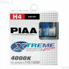 PIAA H4 XTreme White Plus Twin Pack Halogen Bulbs