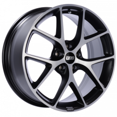 BBS SR Wheel, Volcano Gray w/ Machined Face, 19x8.5, 0362648