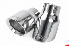 """APR 3.5"""" Double Walled Polished Silver Tips - Set of 2, TPK0006"""